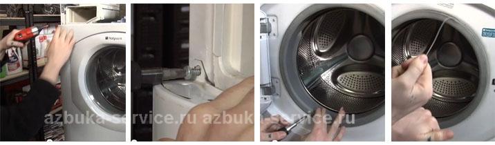 """Как заменить сальник в стиральной машине аристон """" Tib Wot"""