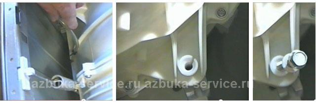 Отсоединение амортизаторов стиральной машины Аристон.