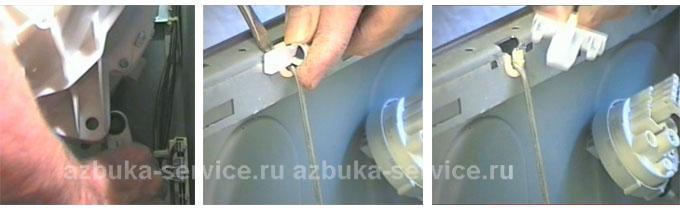 Снятие пружин подвески стиральной машины Аристон.