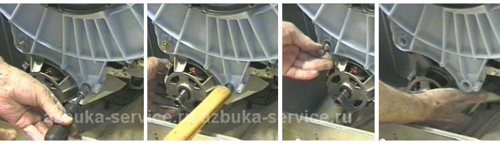 Снятие двигателя со стиральной машины Аристон.