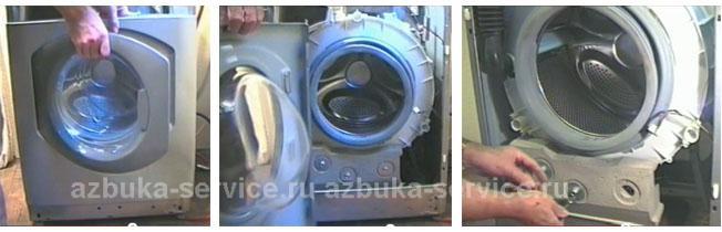 Снятие передней стенки стиральной машины Аристон.
