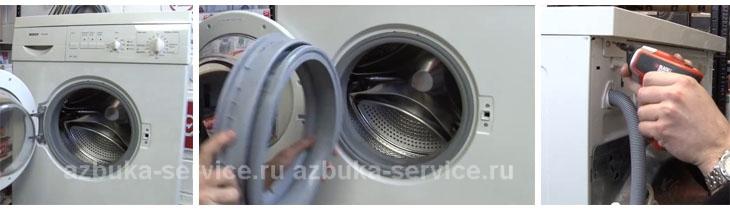 Замена уплотнительной резинки на стиральной машине bosch