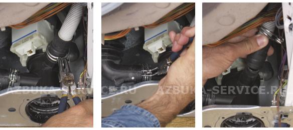 Замена заливного шланга в стиральной машине электролюкс